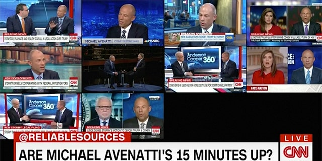 Attorney Michael Avenatti was on CNN 74 times from March 7 through March 15, 2018.