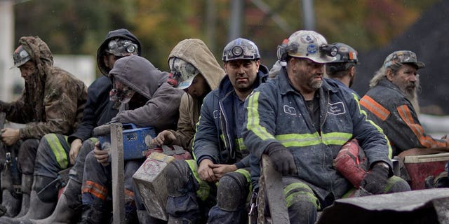 Coal miners in West Virginia.