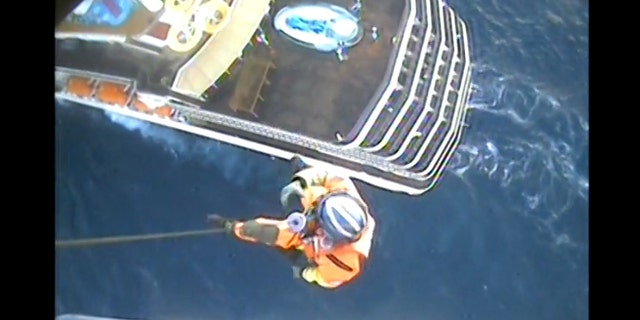 Rescue teams from the U.S. Coast Guard were dispatched twice to the same Carnival Cruise Line ship on Tuesday to rescue two separate women.