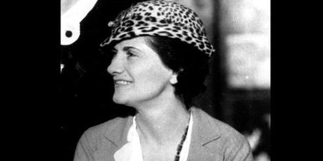 """A headshot of French designer Gabrielle """"Coco"""" Chanel, taken in 1934."""