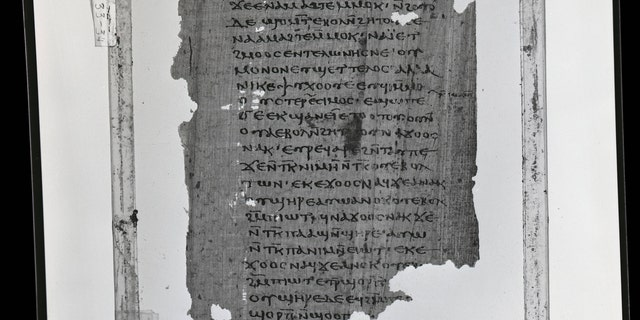 File photo - a page from the Coptic translation of the First Apocalypse of James from the Coptic Museum in Cairo, Egypt. Digitized by Claremont College (Nag Hammadi Library, Oxford University)