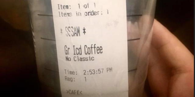 A Starbucks customer with a speech impediment is calling out the barista for mocking his stutter.