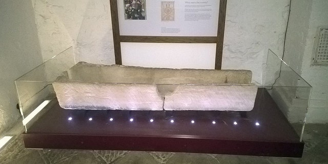The coffin after it was damaged (Southend-on-Sea Borough Council).