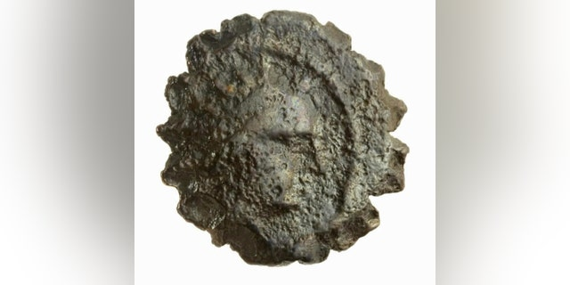 The ancient coin found at Jerusalem's Tower of David (Tower of David Museum).