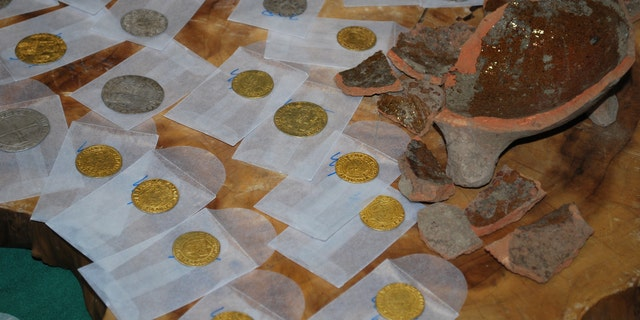 The pot of gold and silver coins was found during construction work in the Dutch province of Utrecht.