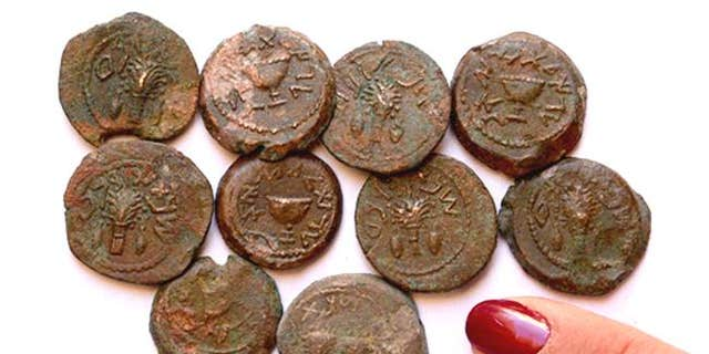 The coins are the last remnants of an ancient Jewish revolt against the Roman Empire (Eilat Mazar/ Hebrew University)