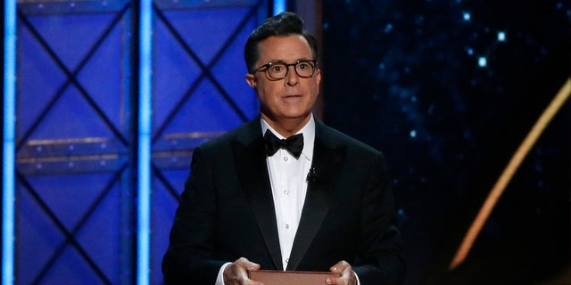 """CBS' """"Late Show"""" host Stephen Colbert mocked Justice Kennedy, 81, for retiring."""