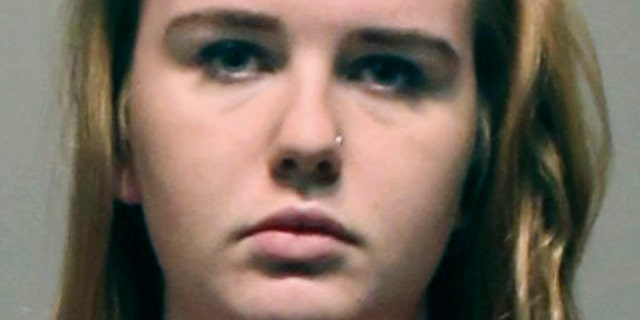 This booking photo released Wednesday, Nov. 1, 2017, by the West Hartford Police Department shows University of Hartford student Brianna Brochu, charged with smearing body fluids on her roommate's belongings in West Hartford, Conn.