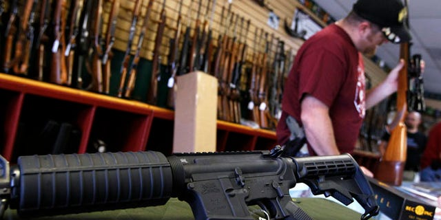 July 24, 2012: A Palmetto M4 assault rifle is seen at the Rocky Mountain Guns and Ammo store in Parker, Colorado.