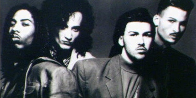 A 1991 photo of the group Color Me Badd.