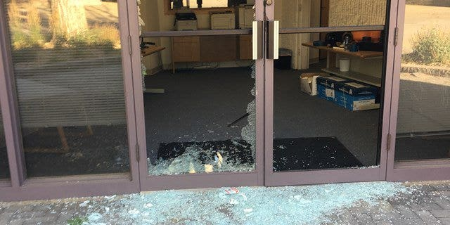 The damage at a Colorado business after a group of goats caused destruction,