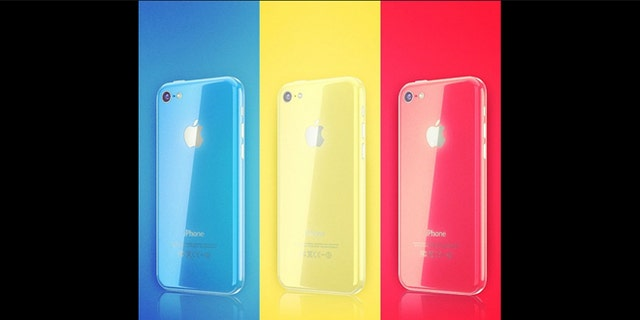 An artist's guess at what a color iPhone 5C might look like.