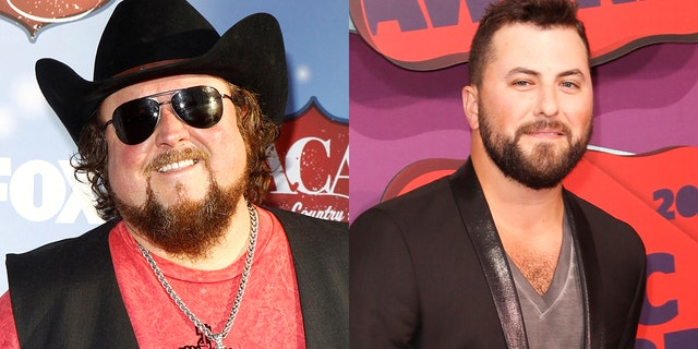 Colt Ford, left, and Tyler Farr, right, in their typical garb.