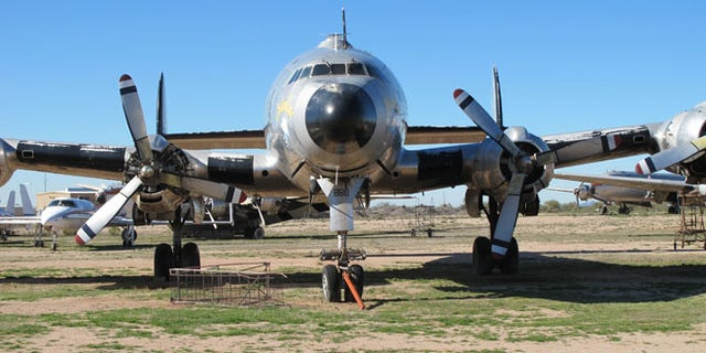 Shown here is the Columbine II, a former presidential aircraft now resting in Arizona.