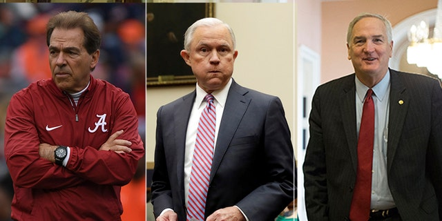 University of Alabama football coach Nick Saban, Attorney General Jeff Sessions and outgoing GOP Sen. Luther Strange  received write-in votes in Tuesday's Senate race.