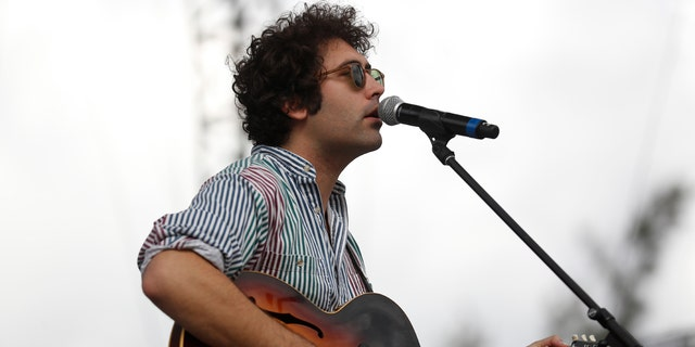 In this Sunday, Nov. 20, 2016 file photo, Miles Michaud, lead singer of the California band Allah-Las, performs during the second and last day of the Corona Capital Music Festival in Mexico City.