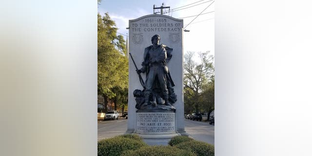 Protesters want this Confederate monument in Wilmington, N.C. to be taken down.