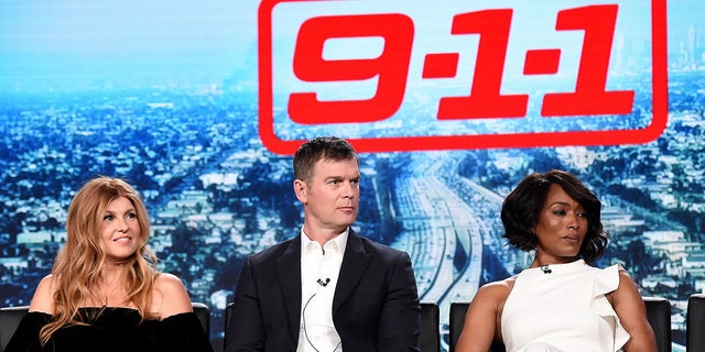 Connie Britton played 911 operate Abby Clark in Season 1 on the Fox show. Here the star is joined by cast mates Peter Krause and Angela Bassett.
