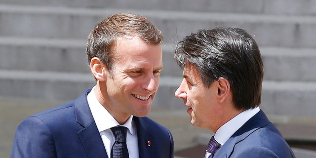 French President Emmanuel Macron and Italian Prime Minister Giuseppe Conte met this week.