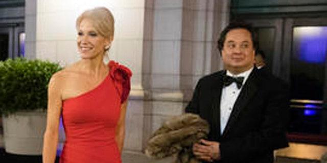 FILE: Jan. 19, 2017: President Trump adviser Kellyanne Conway and husband George Conway, Union Station, Washington, D.C. (AP)