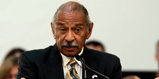 This 2009 file photo shows Rep. John Conyers at an event in Dearborn, Mich.