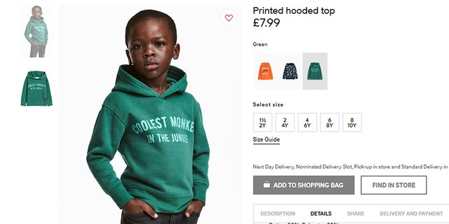 "The mother of the child model told critics of the sweatshirt to ""get over it."""