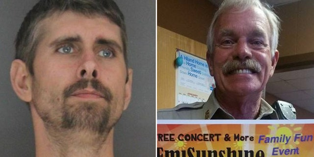 Billy Jones, left, is suspected of fatally shooting Sebastian County Sheriff's Deputy Bill Cooper, right, and Hackett Chief of Police Darrell Spells