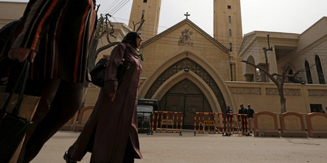 Coptic church in Tanta, Egypt that was the scene of a bombing last April.
