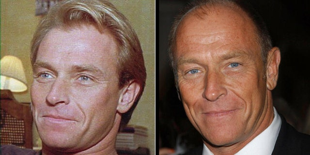 Actor Corbin Bernsen poses in 1985, left, and 2005.