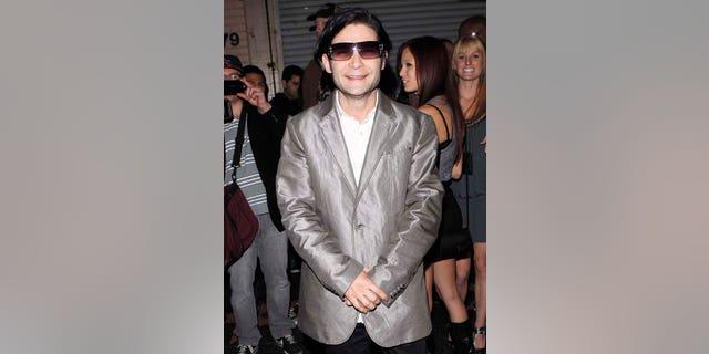 Corey Feldman slick in silver at Premiere Club in Los Angeles on December 2, 2010 in New York City.  X17online.com