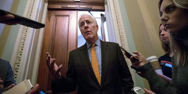 Sen. John Cornyn is working on bipartisan background check system legislation.