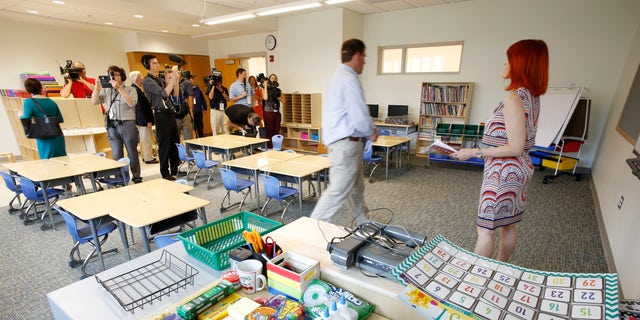 A classroom of the new Sandy Hook Elementary School.