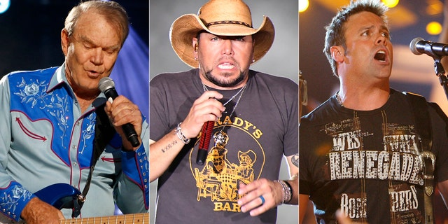 From l-r: Glen Campbell, Jason Aldean and Troy Gentry