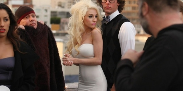 "Courtney Stodden films scenes for her 2018 music video ""Reality."""