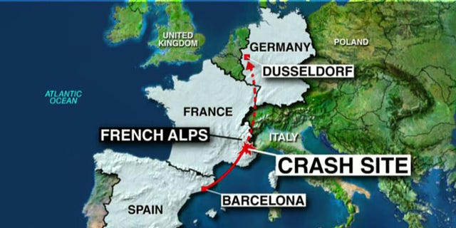 Map Of Germany Landforms.Searchers Recover Black Box After Jet Crashes In French Alps With