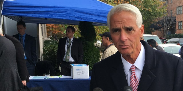 Nov. 14, 2016: Florida Democratic Rep.-elect Charlie Crist arriving on Capitol Hill for House freshman orientation. Fox News