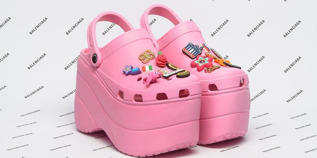 The rubber clogs — which come decked out with colorful pins — were apparently a big hit despite their high price tag.