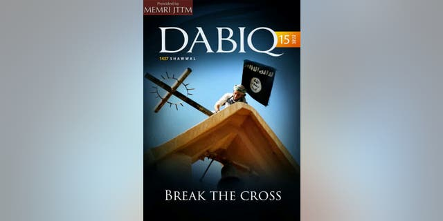 "The new issue of ISIS' magazine is called ""Break The Cross."""
