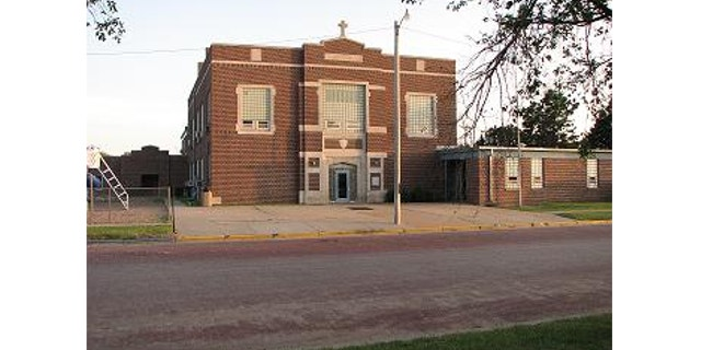 UNDATED: Americans United for Separation of Church and State says the cross on Spearville Elementary School in Spearville, Kansas, violates the First Amendment.