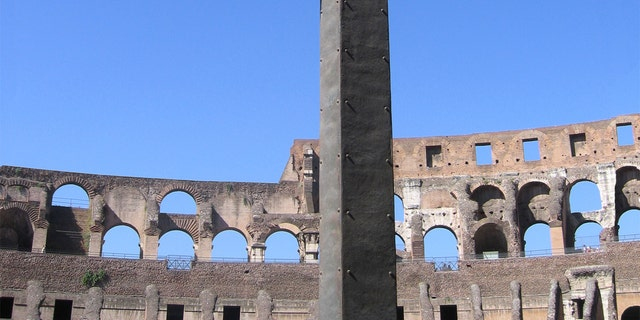 The Cross of Martyrs in the ruins of the Colosseum, Rome. (iStock)