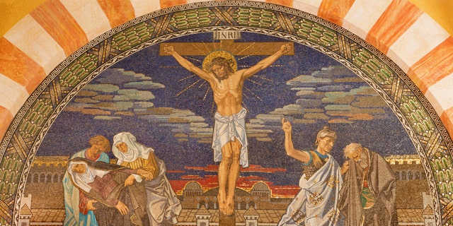 File photo - The Crucifixion. Mosaic in Evangelical Lutheran Church of Ascension, Jerusalem (iStock)