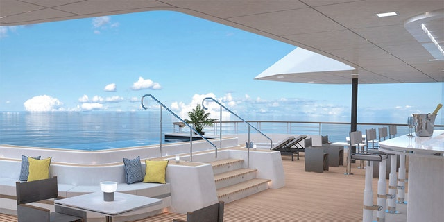 Each ship includes 149 suites with private balconies, a spa, signature restaurant and lounges with onboard entertainment