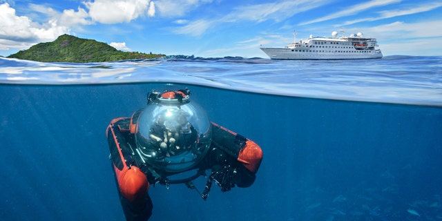 The 3-passenger C-Explorer takes guests on 30 minute expeditions into the deep.
