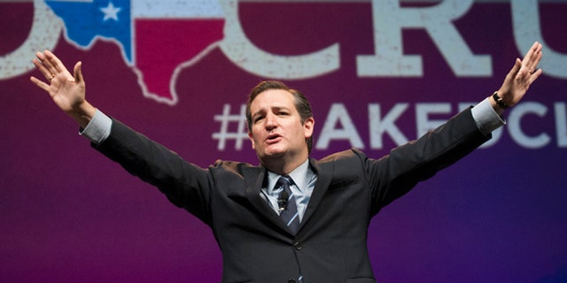 June 6, 2014: U.S. Sen. Ted Cruz address delegates at the Texas GOP Convention in Fort Worth, Texas.