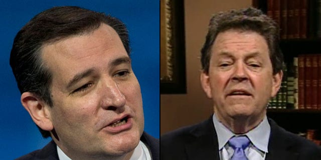 Shown here are Sen. Ted Cruz, R-Texas, left, and economist Art Laffer.