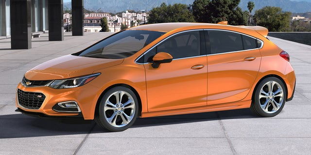 "A 2018 Chevrolet Cruze RS hatchback, which will be discontinued in 2019. Trump said Monday the car was ""not selling,"" and he appeared to be correct."