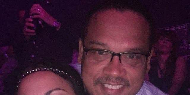 U.S. Rep. Keith Ellison, D-Minn., with Karen Monahan, who's now accusing him of domestic violence.