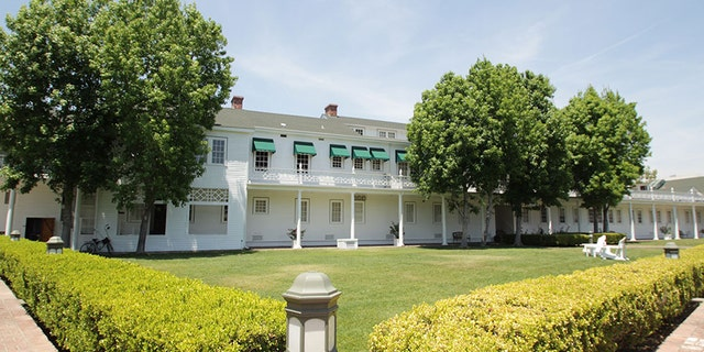 A picture of the event space on the back lawn at The Culver Studios.