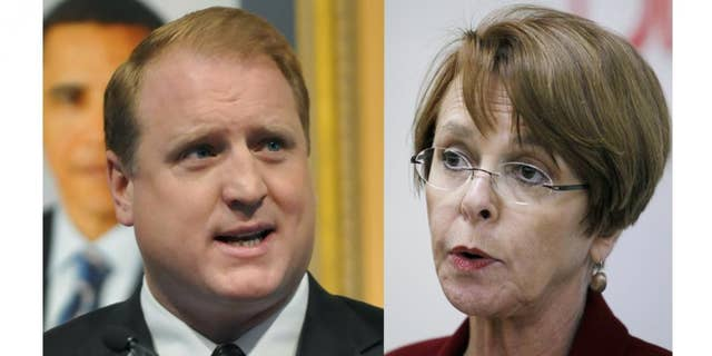 Gov. Chet Culver/Roxanne Conlin (AP)