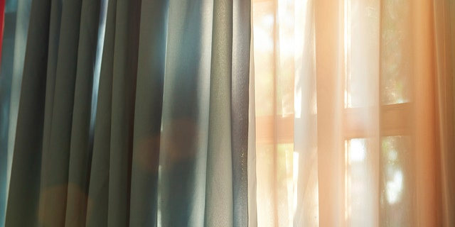 Curtains are usually fine to take, but leave the blinds.